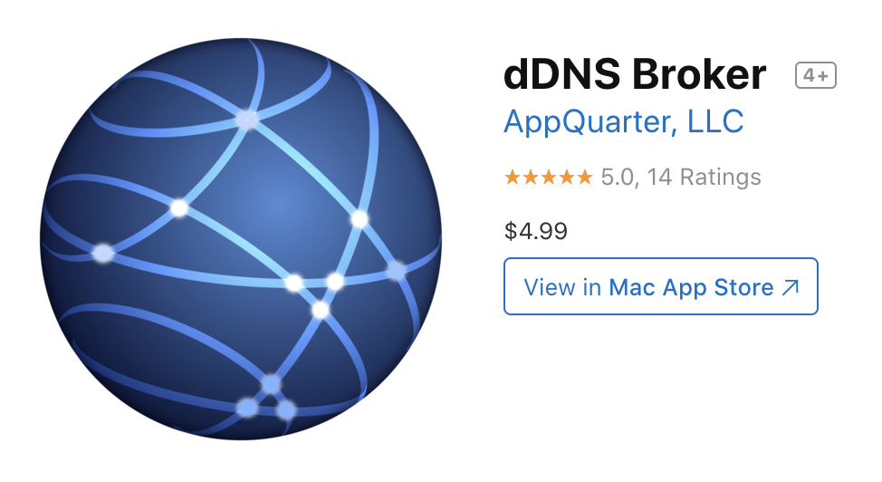IP Monitor APP, Internal DDNS roles is done it to connect Mac OS Server to GoDaddy.